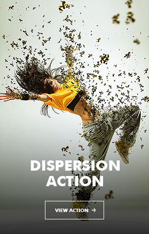 Music Dispersion Photoshop Action