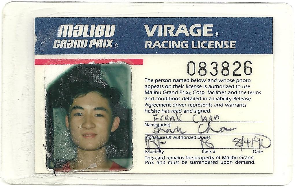 1990 08 04 Malibu Grand Prix Virage Racing License Flickr