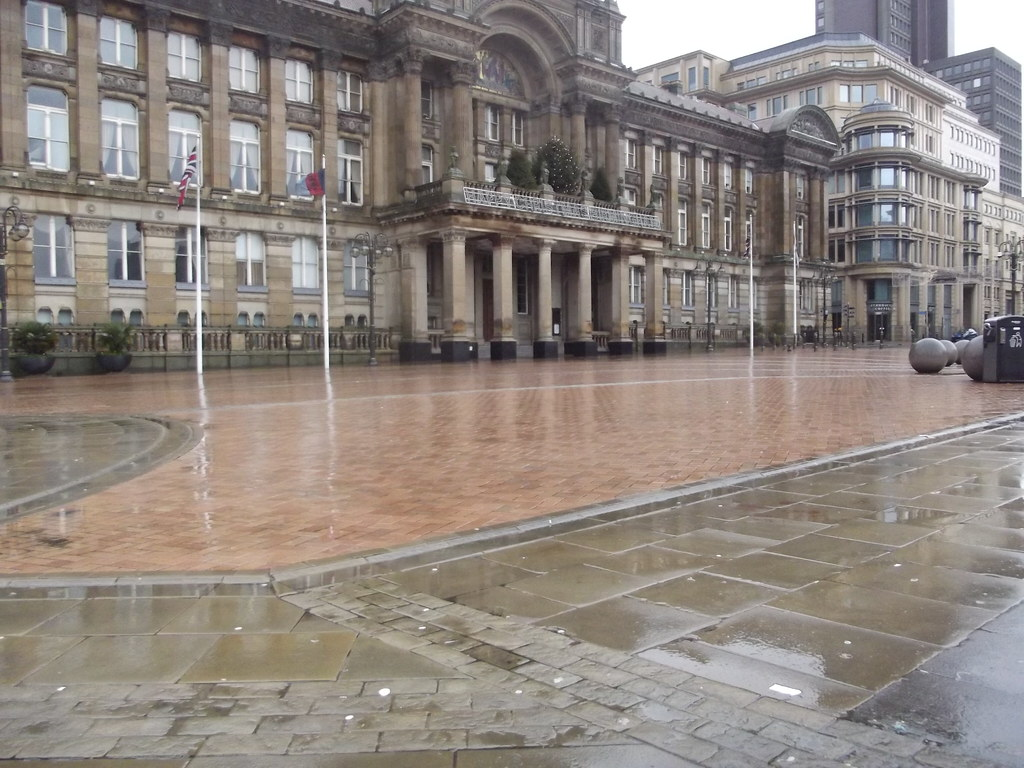 A Wet New Years Day In Victoria Square Birmingham  Counc