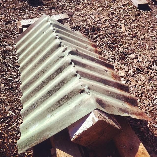 Voila A Ridge Cap Made With My Corrugated Metal Ridge Cap