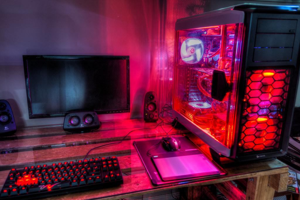 Custom Pc Build Red Led Theme Corsair Cc760t Case And Mo