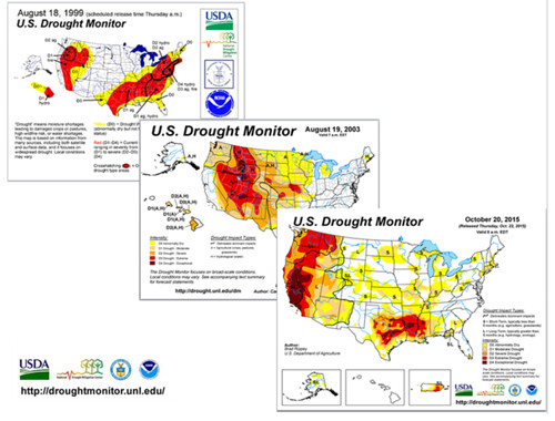 United States Drought Monitor Innovative Data Solutions For The - Us department of agriculture california drought map history