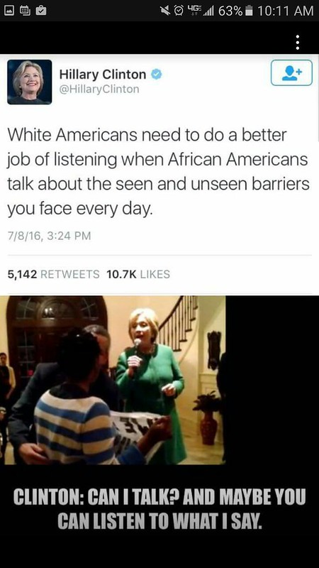 Hillary hypocrisy with POC