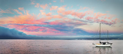Pink and Blue Sunset on Monterey Bay - Monterey, CA