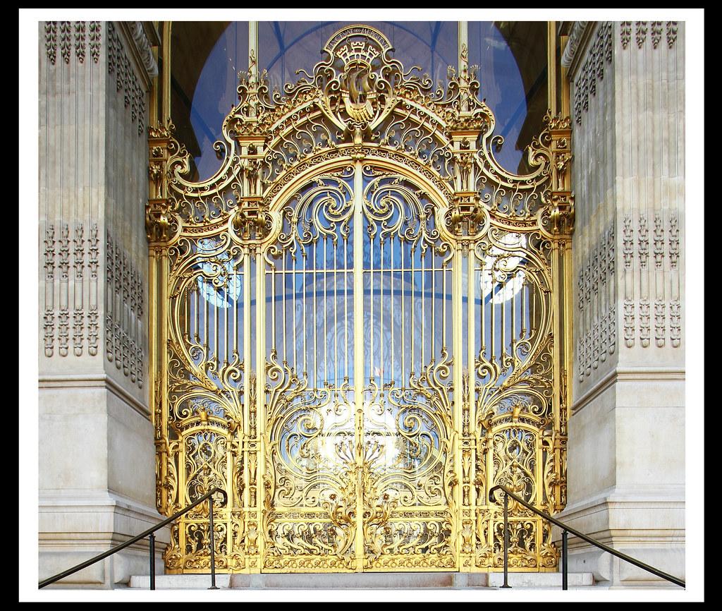 grille de la porte d entr e du petit palais 1900 paris. Black Bedroom Furniture Sets. Home Design Ideas