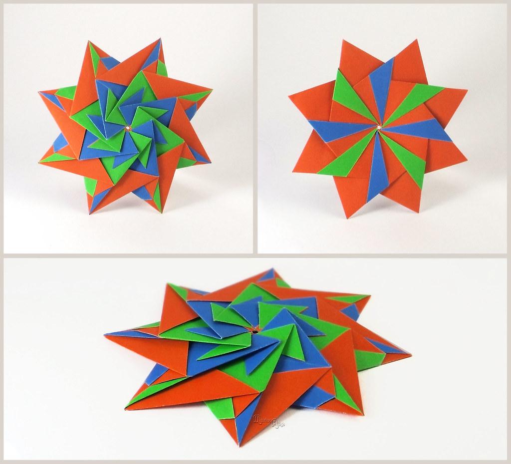 Modular Origami Star   Modular Origami Star (Maria ... - photo#45
