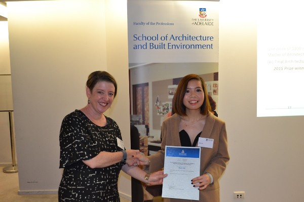 2015 Winner: Minli Xie - Presented by Nicolette Di Lernia (AIA-SA Chapter Manager)