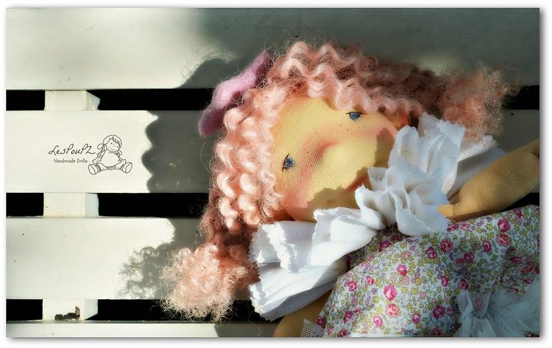 Colette, 13'' Natural Fiber Doll by LesPouPZ