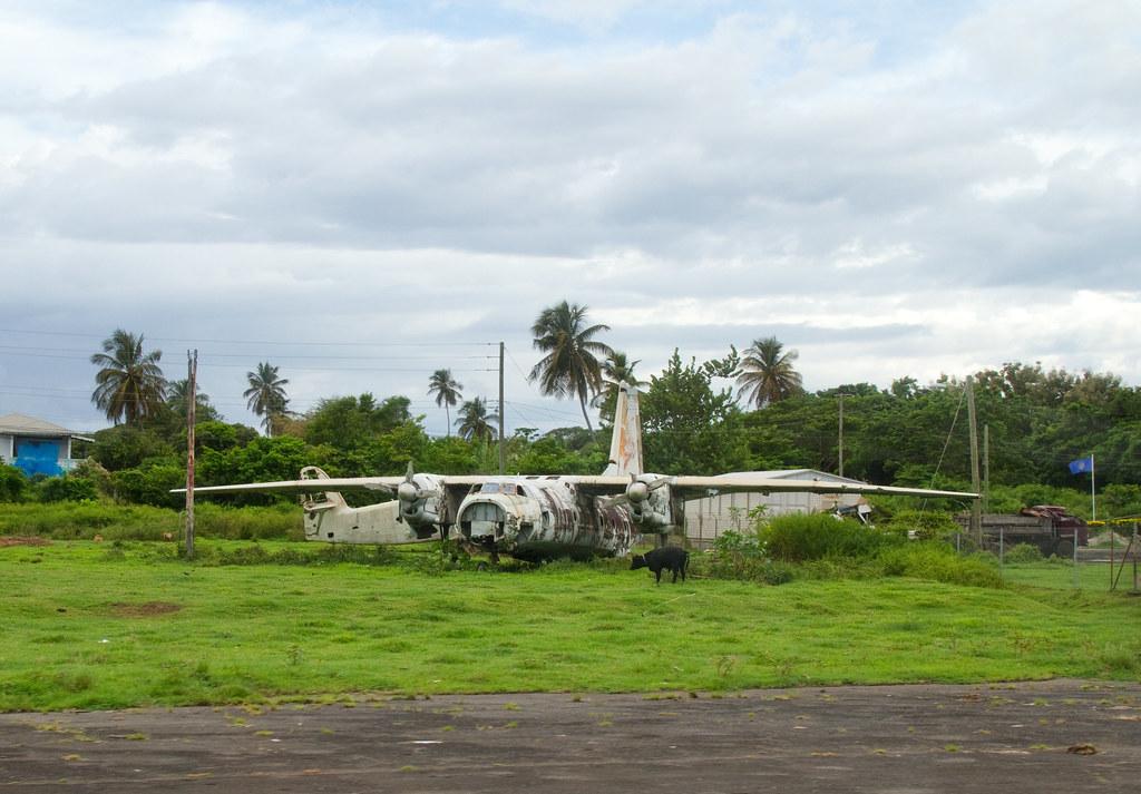 Destroyed Cuban Airliner Pearls Airport Grenada