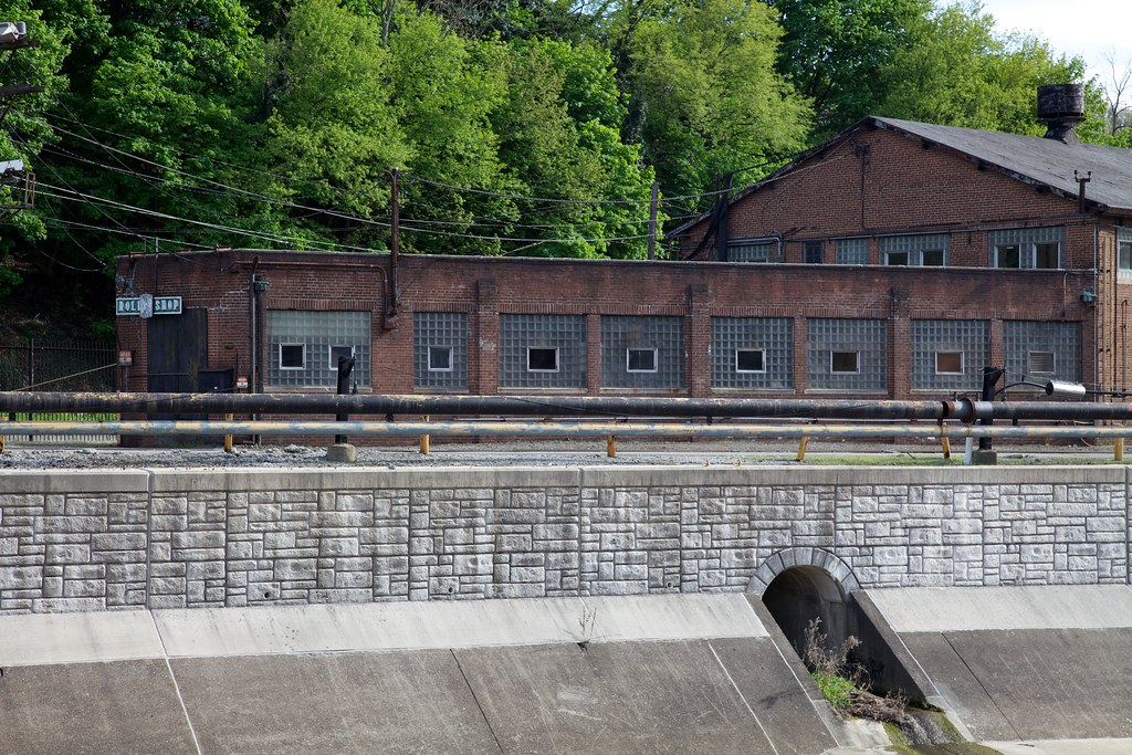 Roll Shop Factory Along The Little Conemaugh River In