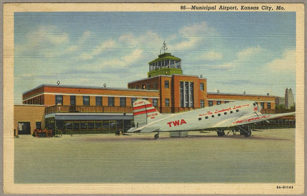 Quot Municipal Airport Kansas City Mo Quot Postcard Related