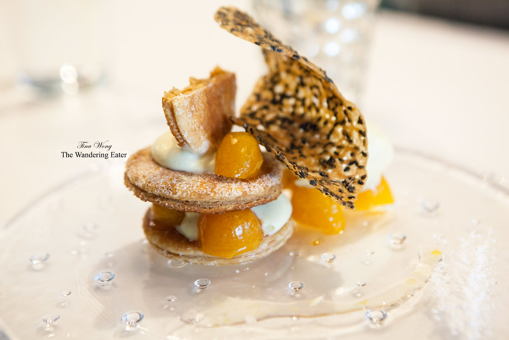 Kumquat millefeuille with kumquat ice cream and black sesa… | Flickr