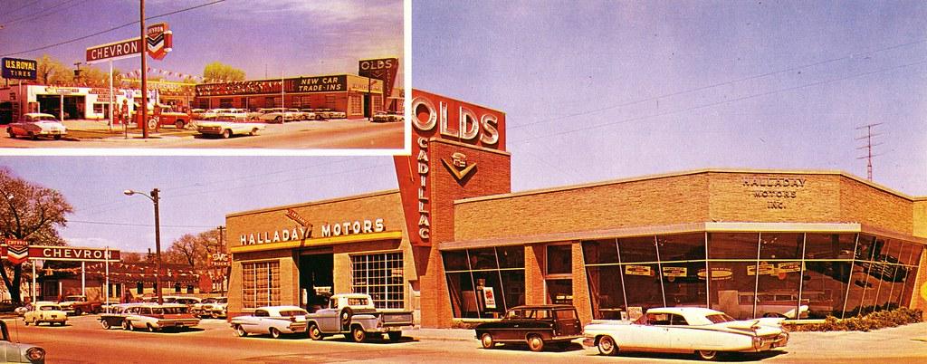 halladay motors olds cadillac cheyenne wy 1959 500 east flickr. Black Bedroom Furniture Sets. Home Design Ideas