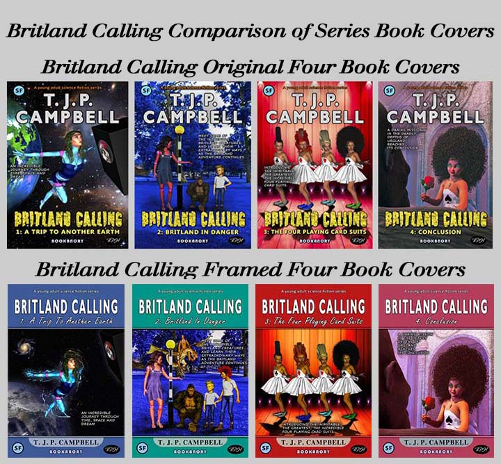 Britland Calling comparison of Four Book Covers