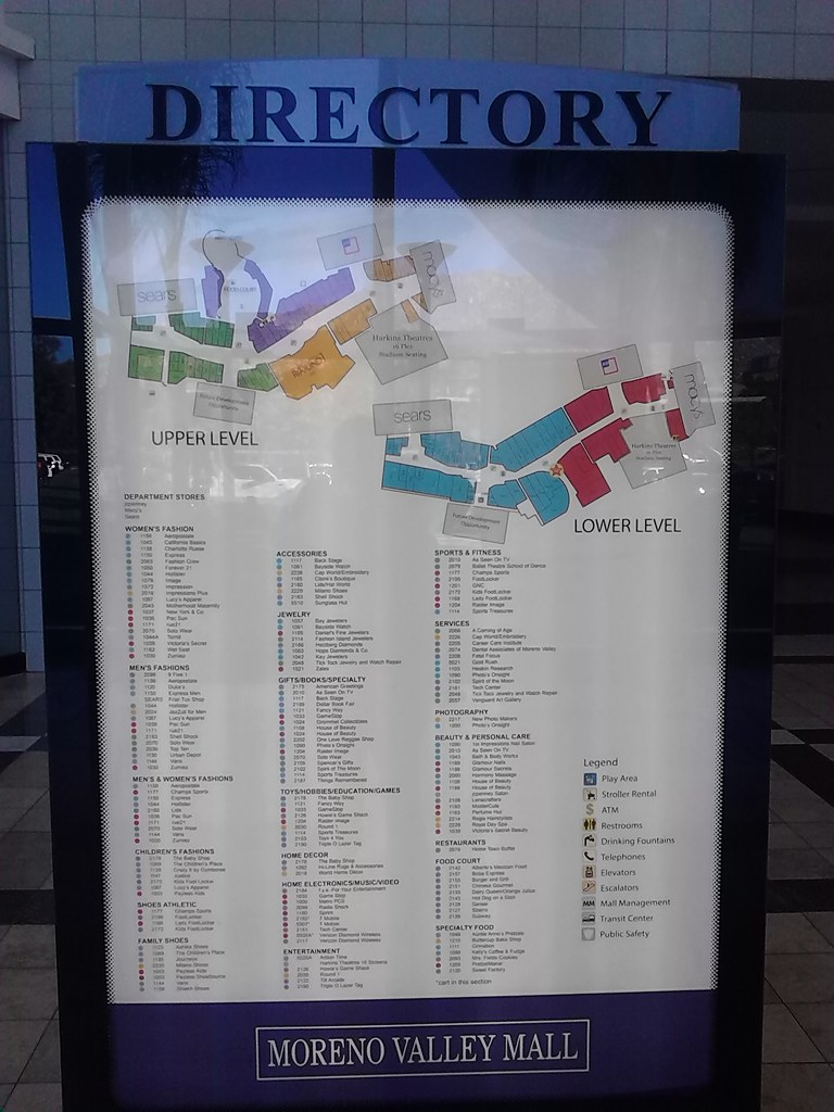 Moreno Valley Mall Directory Directory