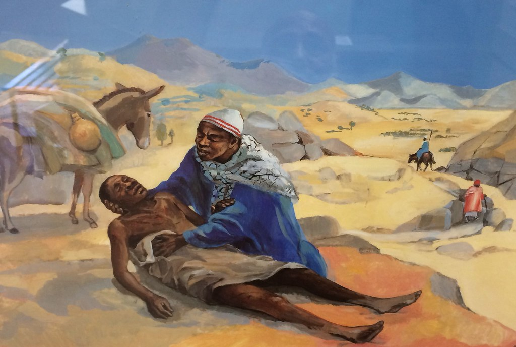 "African depiction of ""The Good Samaritan"" 