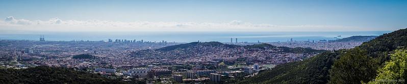 Panorámica de Barcelona desde el Turó de Magarola