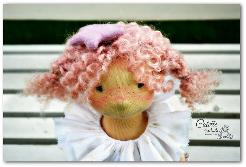 Colette, 13'' Natural Fiber Doll by LesPouPZ