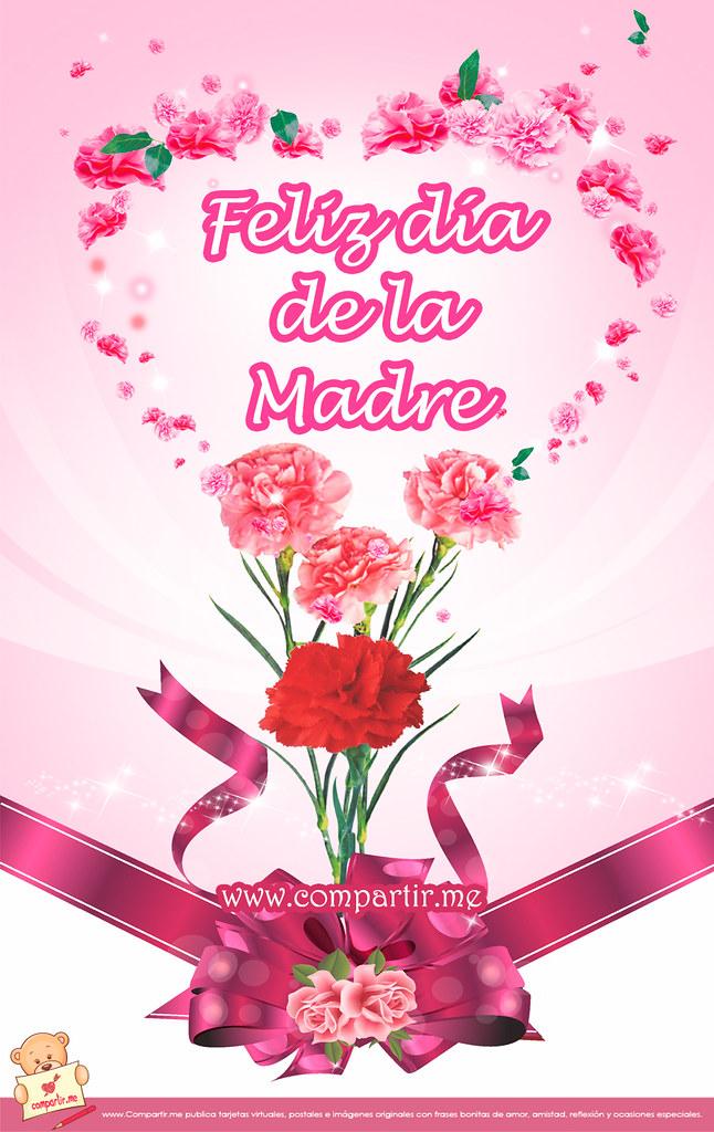 Bonita tarjeta para el Facebook con flores por el da de l  Flickr