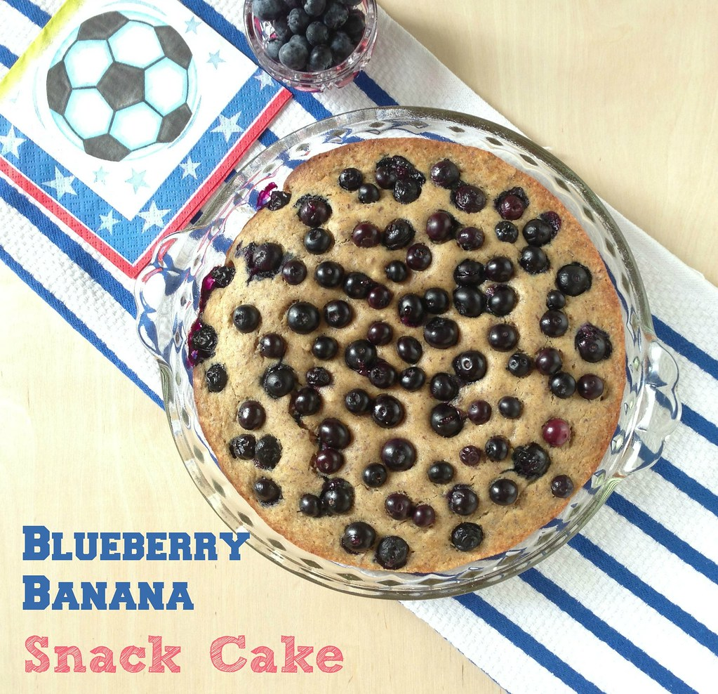 Banana Blueberry Cake With Cream Cheese Frosting