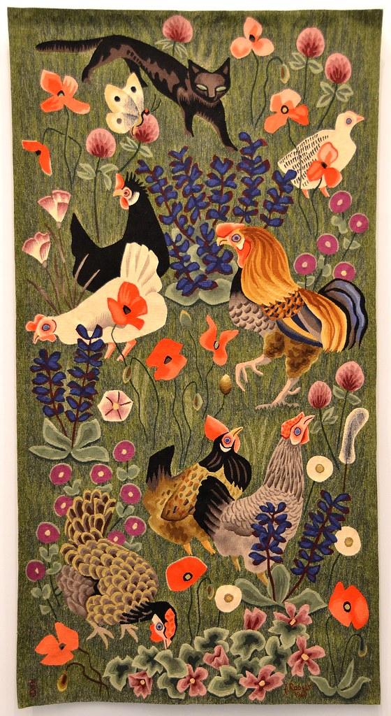 tapisserie de dom robert le chat noir carton de 1969 flickr. Black Bedroom Furniture Sets. Home Design Ideas