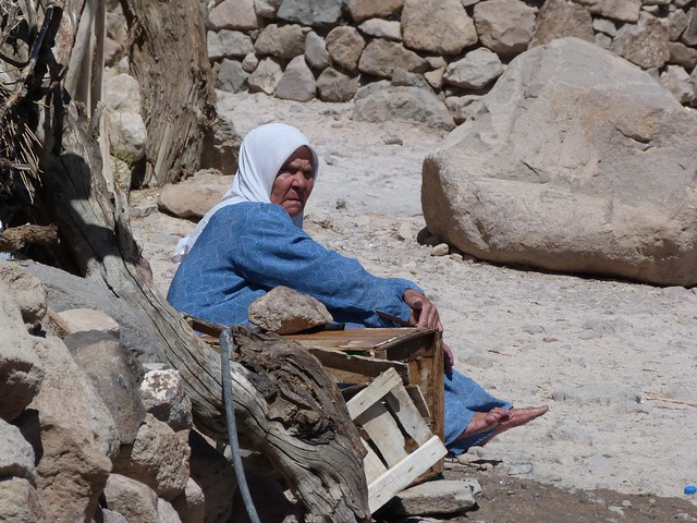 Mujer en Meymand (Irán)