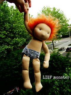 Baby Olga, a 14 inch LIEF monster doll