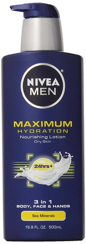 Body Lotion for men - Nivea for Men Maximum Hydration Nourishing Lotion for Dry Skin