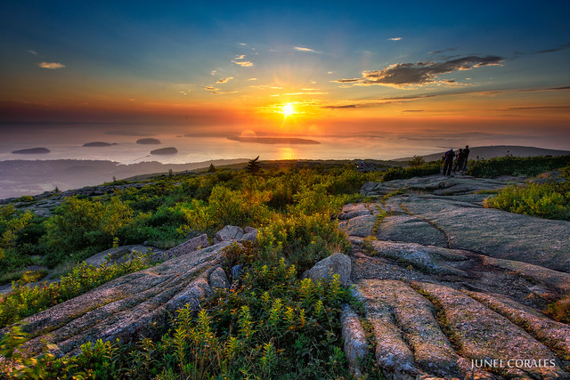 Cadillac Mountain Sunrise | View of the sunrise from the ...