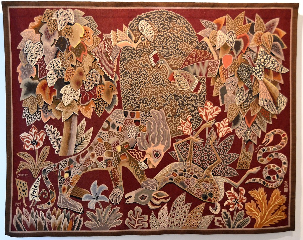 Tapisserie de dom robert la jungle carton de 1949 flickr - Galerie nationale de la tapisserie beauvais ...