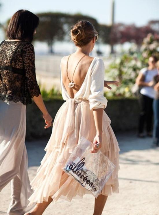 falda tul capas