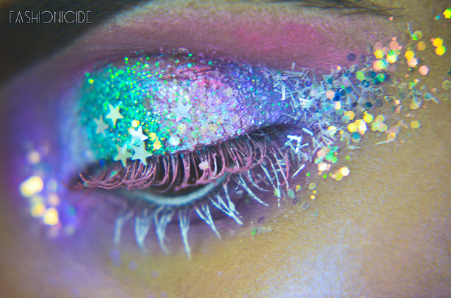 Intergalactic Glitter Explosion Makeup 7_