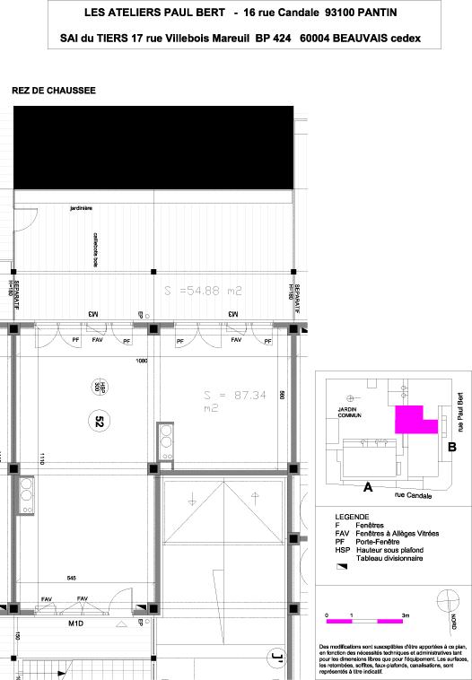 Les Ateliers Pault Bert - Plan de vente - Lot 52