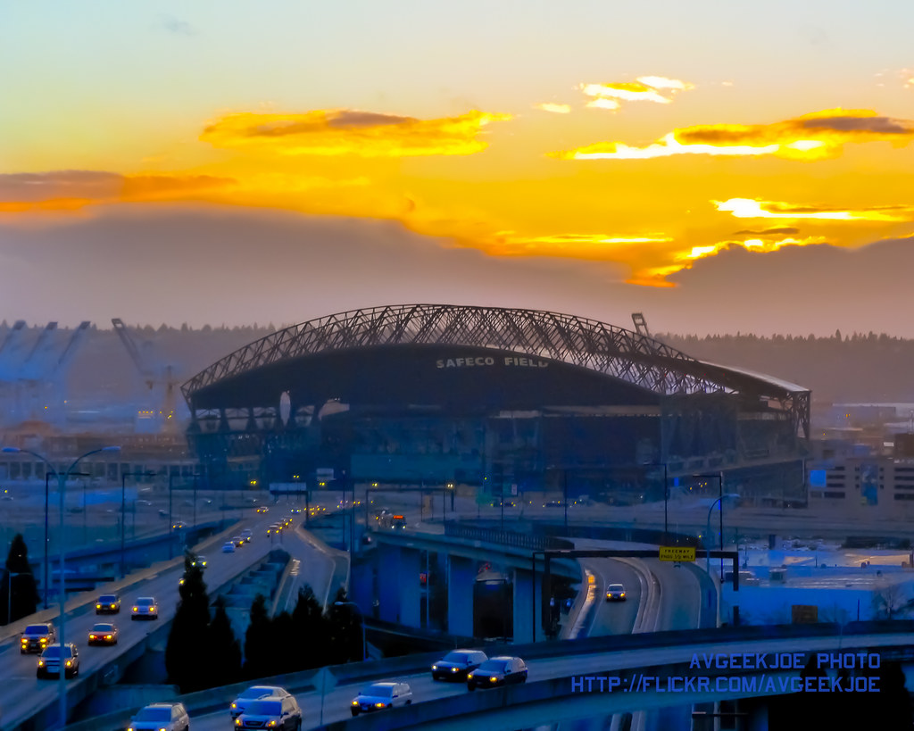 Safeco Field and a Seattle Sunset | I figure this would be ...