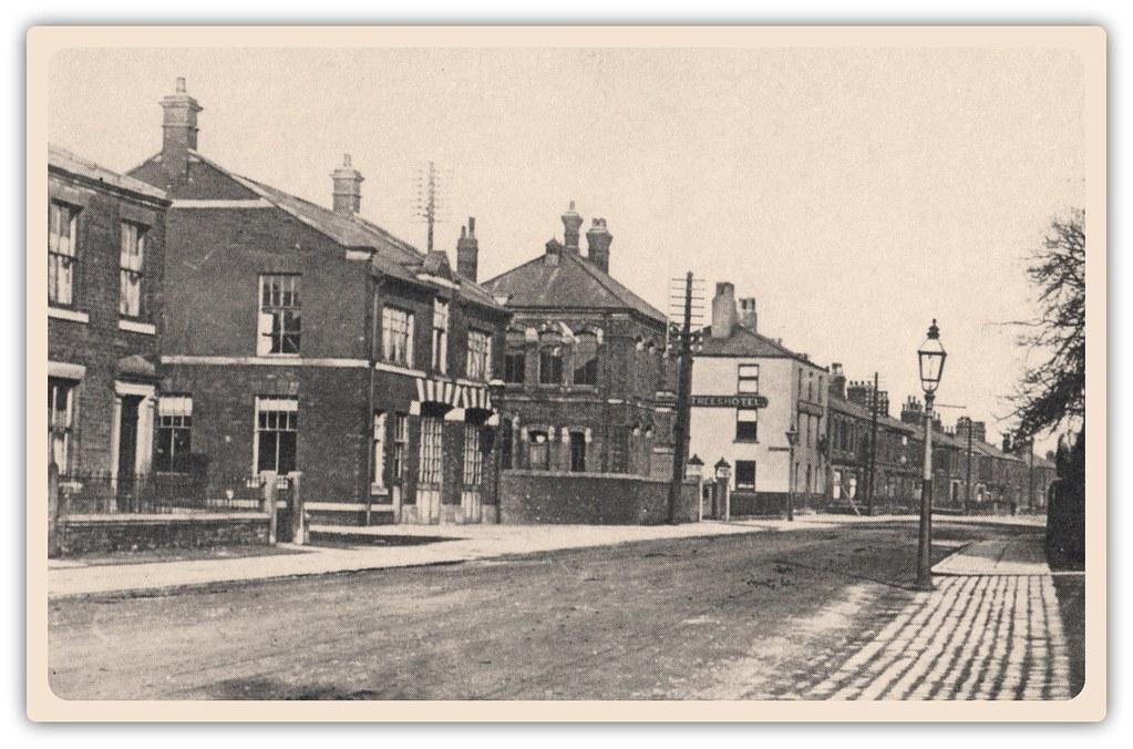 All Road Sign >> Station Road, Bamber Bridge c.1920 | Sepia postcard. | Preston Digital Archive | Flickr