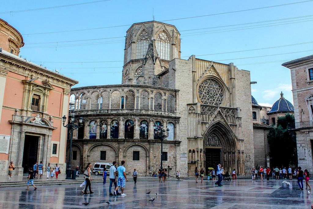 Plaza de la virgen de valencia fotograf a de la plaza de - La nueva fe de valencia ...