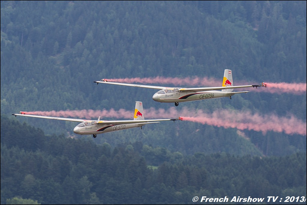 Blanix-Team , 2 gliders , Blanik L 13 , OE-0758 OE-0739 OE-5733 ,AIRPOWER13 , Zeltweg , Austria , airpower 2013 Zeltweg