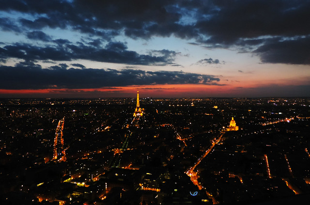 On Quirky Travel Habits: View of Paris from Montparnasse Tower