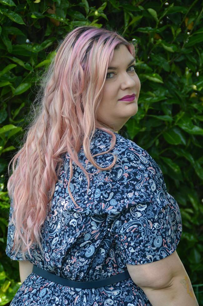 Outfit floreale blu e rosa (8)