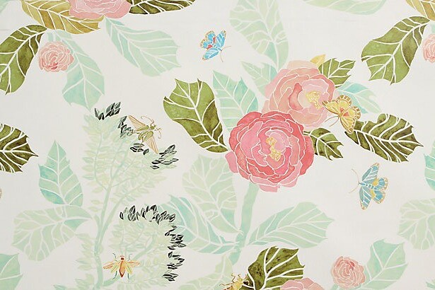 anthropologie watercolor peony wallpaper ashley flickr