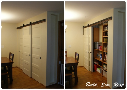 Pantry With Diy Barn Door Hardware By Julie Buildsewreap Flickr