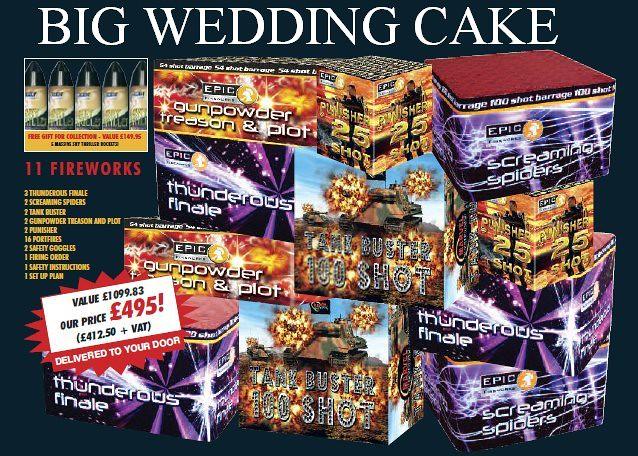 Fireworks For Wedding Cakes