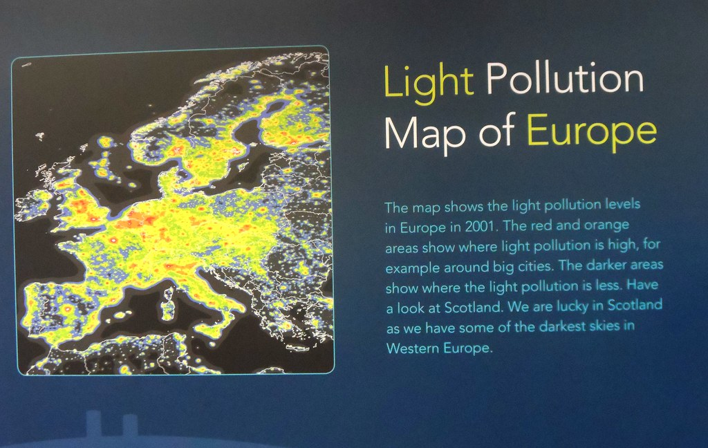 Light Pollution Map Of Europe At The Royal Observatory Edi