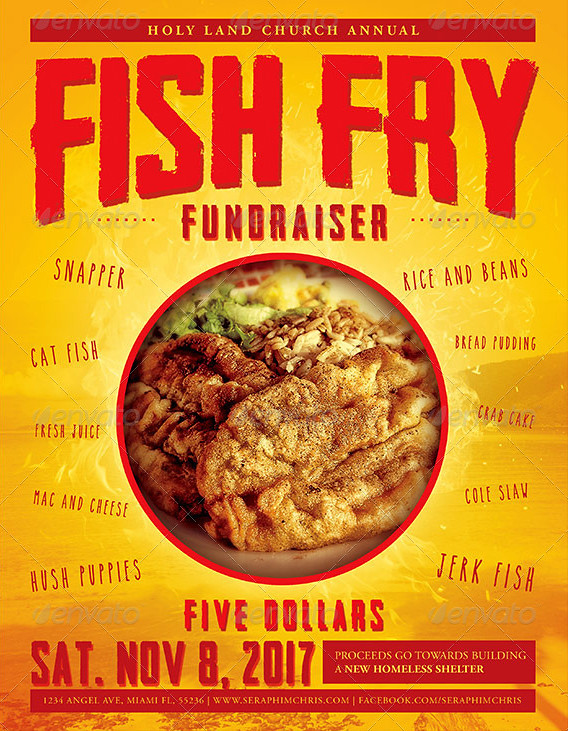 Fish Fry Event Flyer Template By Seraphimchris Graphicriver