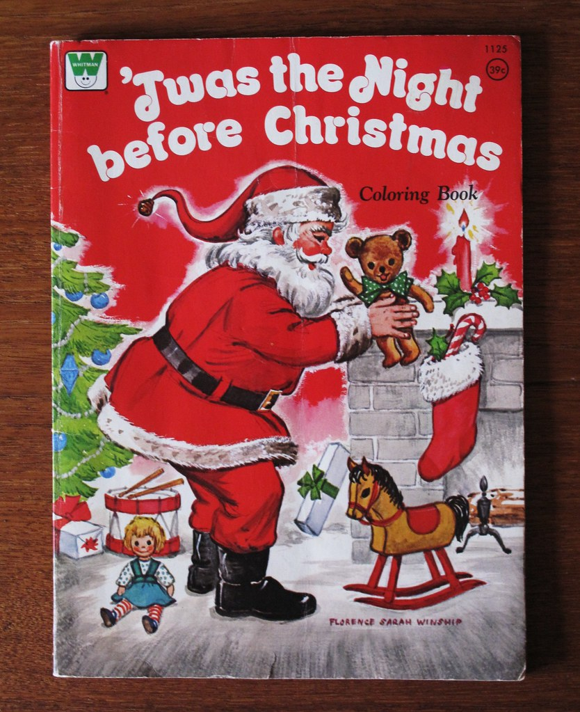 Vintage Whitman Christmas Coloring Book 1973 | Illustration … | Flickr