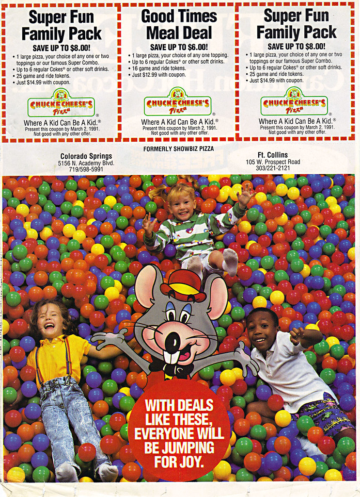 CHUCK E CHEESES PIZZA EVERYONE WILL BE JUMPING FOR