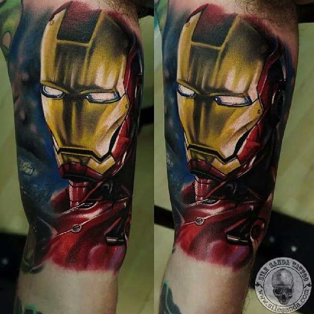 ironman avengers tattoosleeve ink tattoos glasgow s flickr. Black Bedroom Furniture Sets. Home Design Ideas