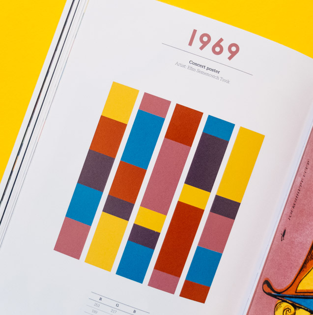 100 years of colour | 1969 colour palette