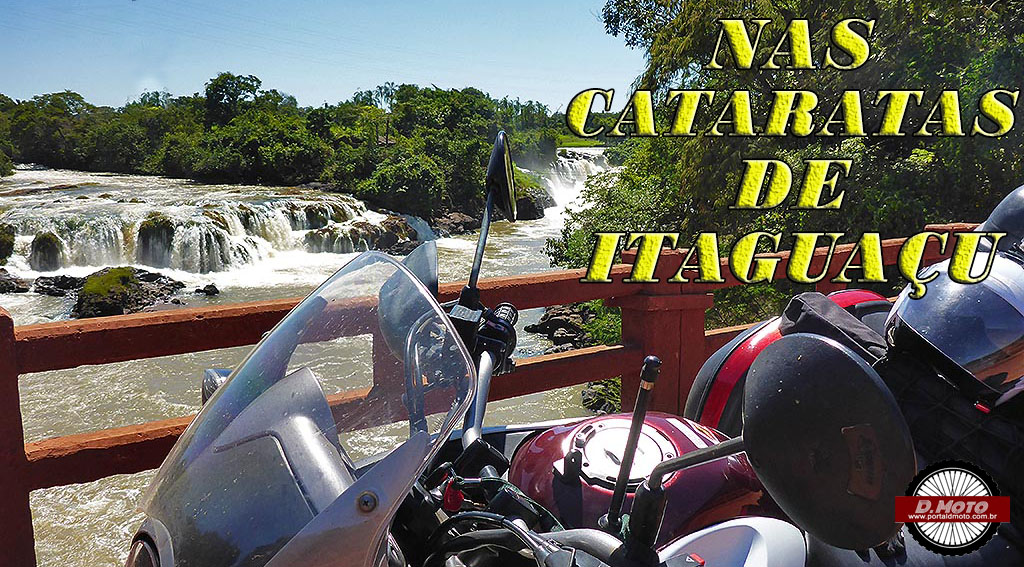 Nas cataratas de Itaguaçu