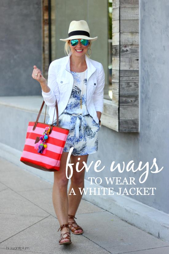 Hi Sugarplum | Five Ways to Wear a White Jacket